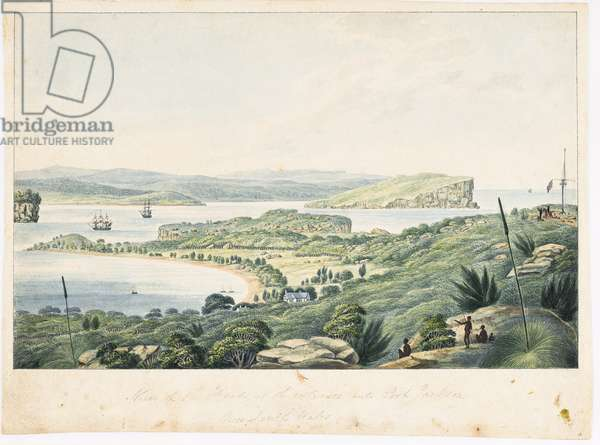 View of the Heads, at the entrance into Port Jackson, c.1822 (w/c on paper)