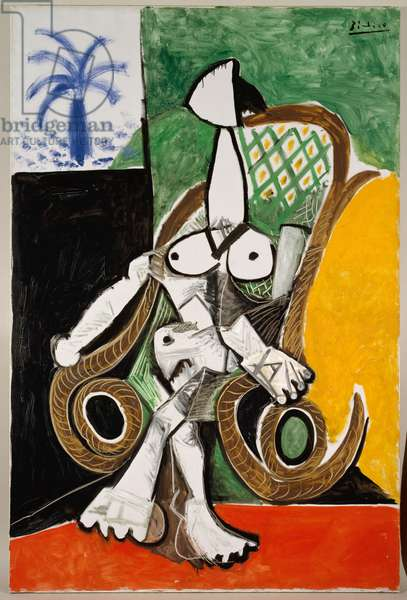 Nude in a Rocking Chair, 1956 (oil on canvas)