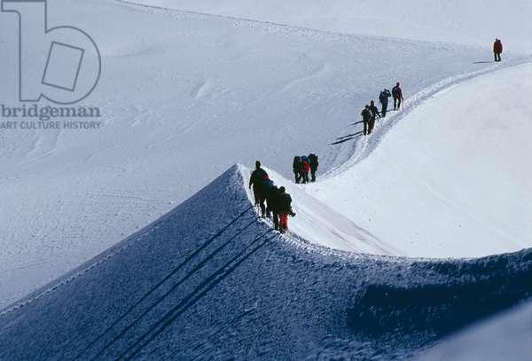 The Mont Blanc massif, hiking (photo)