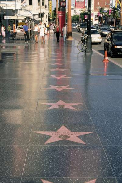 Hollywood Boulevard, walk of Fame, Los Angeles, 2005 (coulour photo)