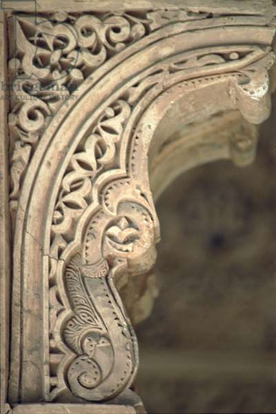 Detail of one of the arches from the Patio (plaster)