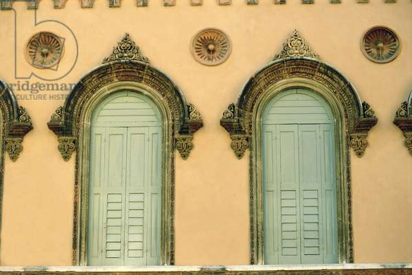 Detail of a decorated facade (photo)