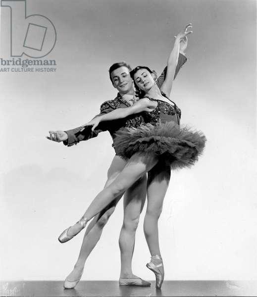 Nora Kovach and Istvan Rabovsky in 'Bayaderka'