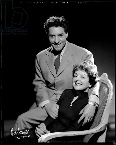 Edith Piaf with her husband, Jacques Peal
