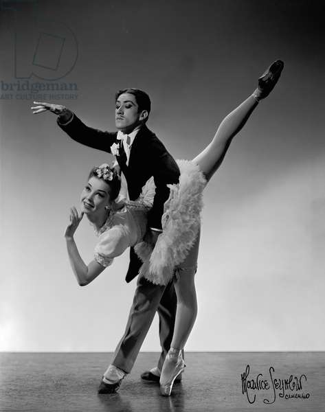 Nadia Nerina and Alexander Grant in 'Wedding Bouquet' by Sadler Wells Ballet
