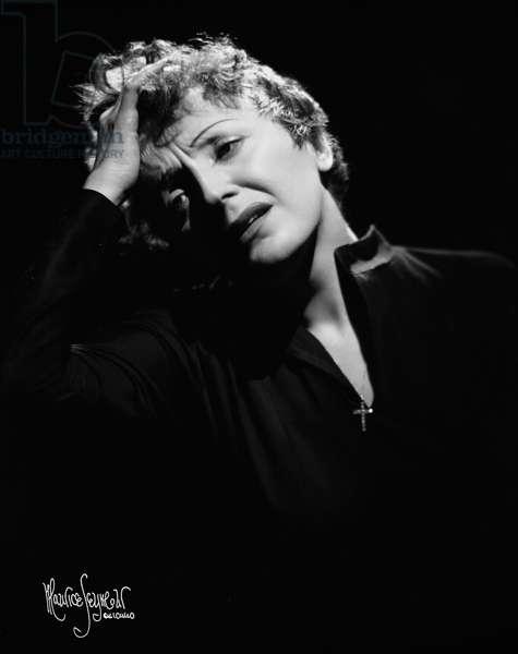 Edith Piaf 1955 on American tour