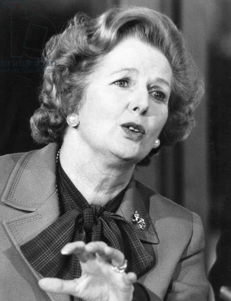 Margaret Thatcher, 1982 (b/w photo)