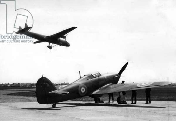 British fighter planes in France, 1940 (b/w photo)