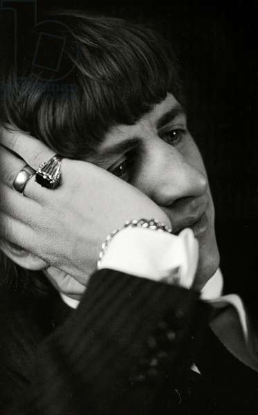 Ringo Starr of The Beatles during the 'Hard Day's Night' promotion camaign, 1964 (b/w photo)