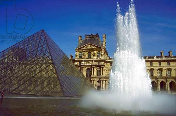 View of the Louvre museum, Paris, France, 1999