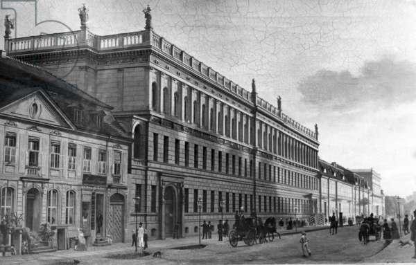 Leipziger Street in Berlin, around 1857 (b/w photo)