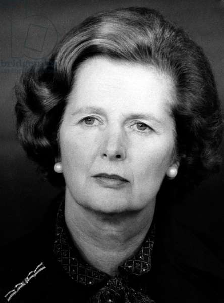 Margaret Thatcher, 1981 (b/w photo)