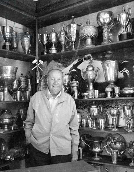 Hans Stuck in Garmisch, 1971 (b/w photo)