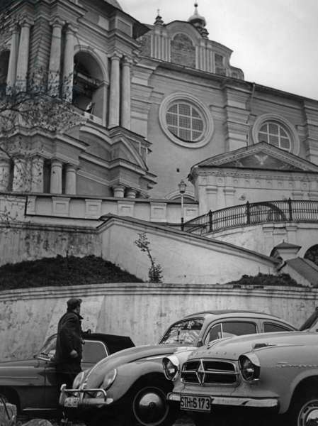 The Smolensk Cathedral, 1960s (b/w photo)