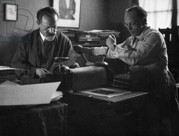 Emil Orlik, 1932 (b/w photo)