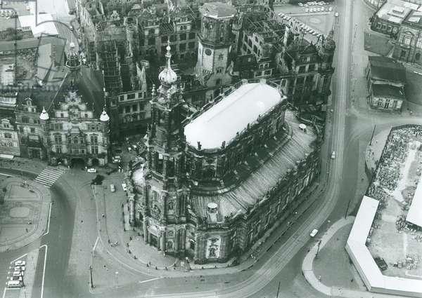 View of the Sanctissimae Trinitatis, Dresden, 29th June, 1965 (b/w photo)
