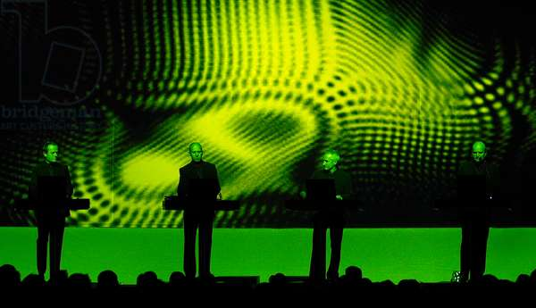 Kraftwerk on stage in Muffathalle, Munich, April 5, 2004