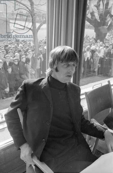 The Beatles in Salzburg, 1965 (b/w photo)