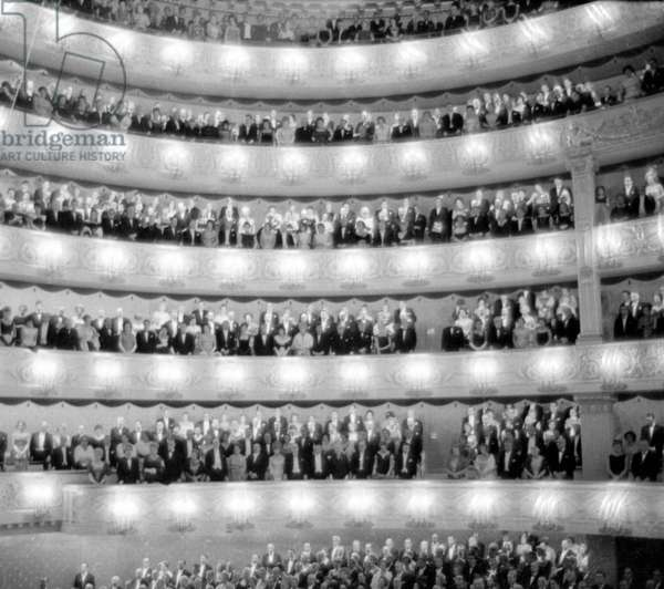 Reopening of the Munich National Theatre, 1963 (b/w photo)