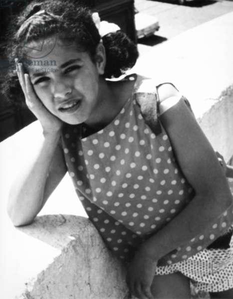 Girl in Marseille, 1963 (b/w photo)