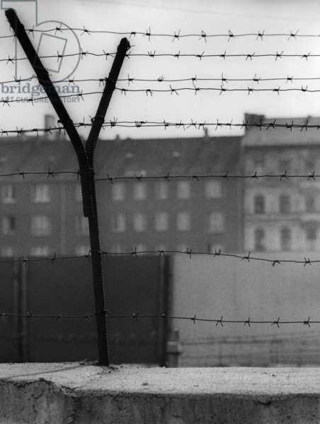The Berlin Wall, 1962 (b/w photo)