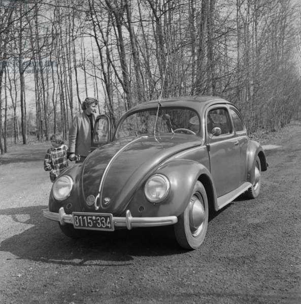 VW Beetle, c. 1950 (b/w photo)