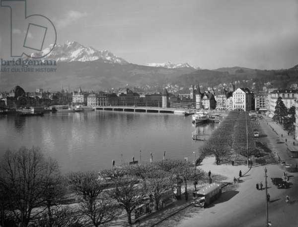 Lucerne (b/w photo)