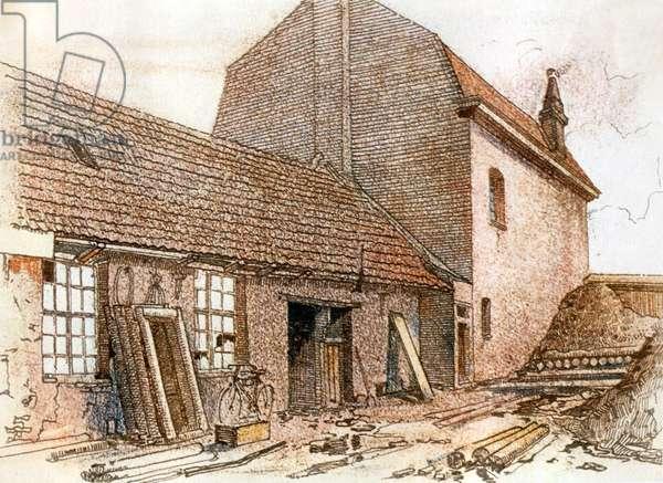 Adolf Hitler, April 1889 in Braunau am Inn, 30 (drawing)