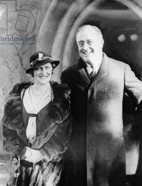 Lady Nancy Astor and Franklin D. Roosevelt, 1932 (b/w photo)