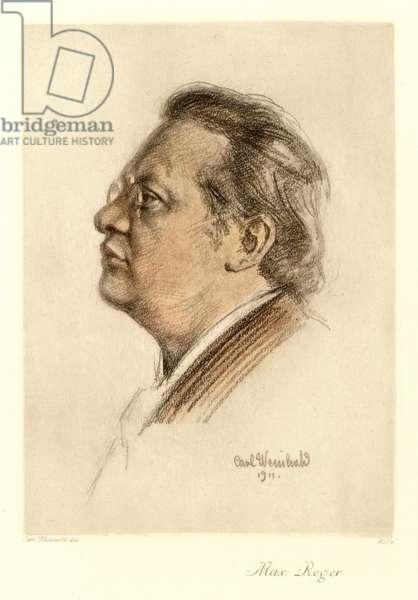 Max Reger, 1911 (colour litho)