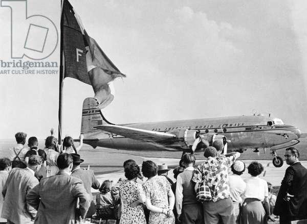 The Munich-Riem Airport, 1953 (b/w photo)