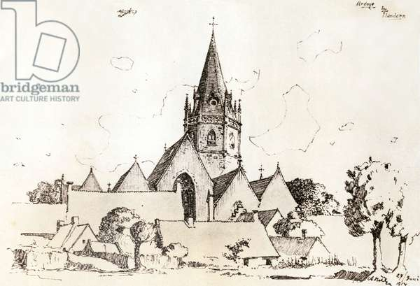 drawing by Adolf Hitler, April 1889 in Braunau am Inn,  30 (drawing)
