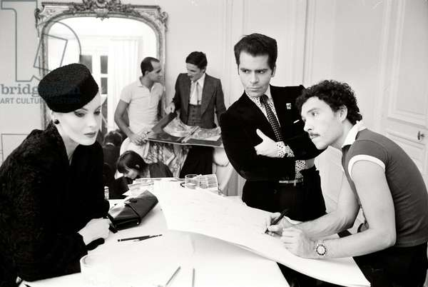 Karl Lagerfelds im Maison Chloe in Paris, 1972
