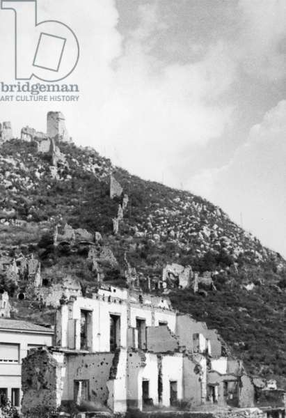 Monte Cassino in the early 1950s (b/w photo)