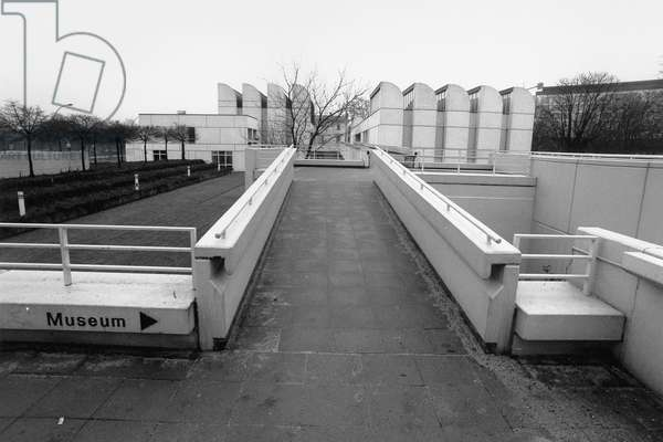 View of the Bauhaus Archive, Berlin, 2003 (b/w photo)