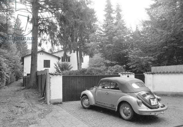 Residential building of Franz Beckenbauer in Munich, 1974 (b/w photo)