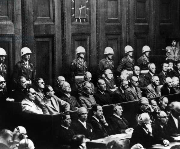 Trial of the Major War Criminals: main defendants, group picture