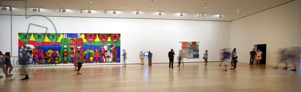 Gilbert and George exhibits, Exhibition Selecciones de la Coleccion del Museo Guggenheim, Bilbao, Spain, 2013 (photo)