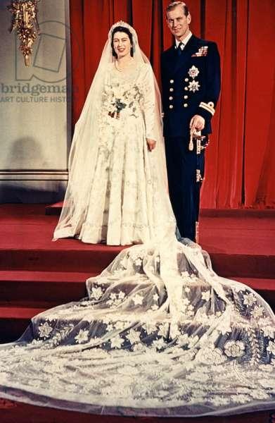 The wedding of Elizabeth II, Queen of the United Kingdom, 1947 (photo)