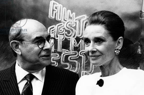 Audrey Hepburn and Stanley Donen, 1992