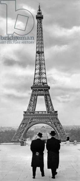 Eiffel Tower, 1956 (b/w photo)