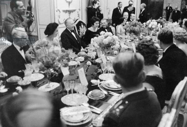 Konrad Adenauer in Tehran, 1957 (b/w photo)