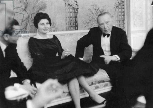 Konrad Adenauer in Iran, 1957 (b/w photo)