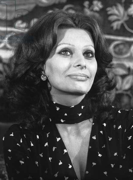 Sophia Loren, 1979 (b/w photo)