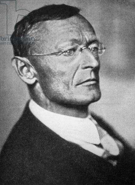 Hermann Hesse, 1937 (b/w photo)