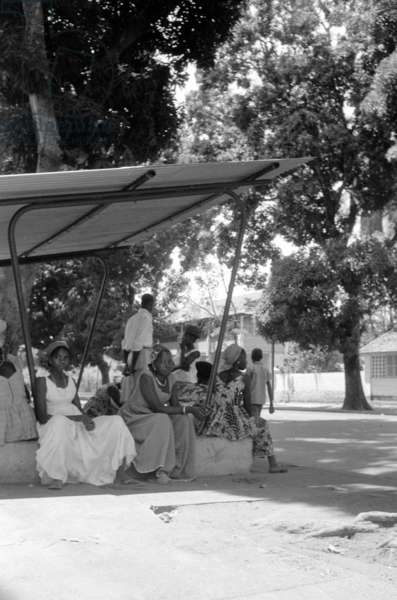 People in Guinea, 1960 (b/w photo)