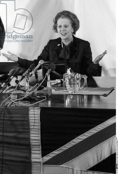 Margaret Thatcher, 1983 (b/w photo)