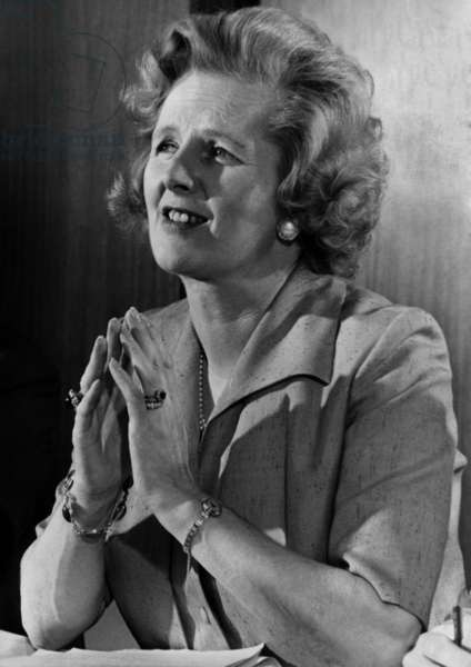 Margaret Thatcher, 1977 (b/w photo)