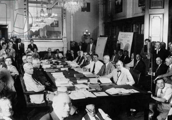 Members of the Finance Committee of the Senate, 1929 (b/w photo)