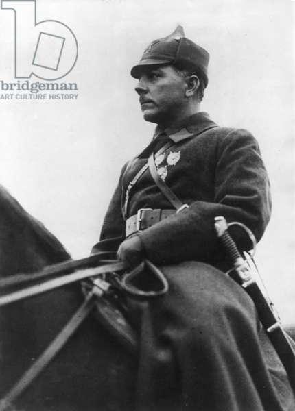 Kliment Voroshilov as observer of the Sino-Japanese War, 1937 (b/w photo)